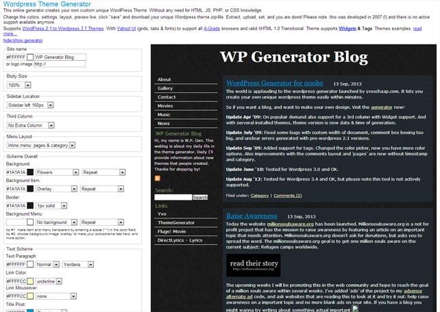 5 Online Wordpress Theme Generators